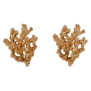 Napier Textured Coral Earrings