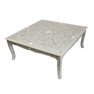 Grey Inlay Square Coffee Table