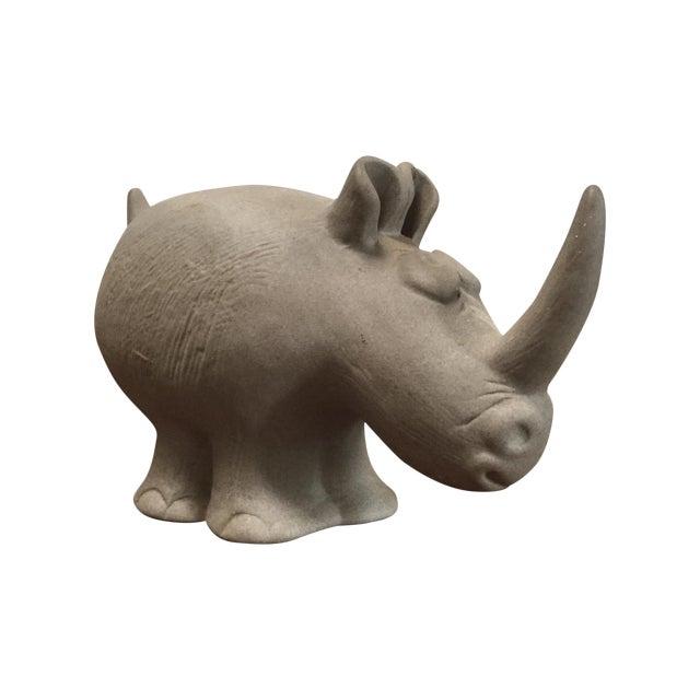 Robert Maxwell Attrib. Ceramic Rhino - Image 1 of 9