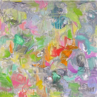 "Trixie Pitts ""April Showers"" Abstract Oil Painting"