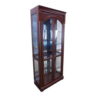Ethan Allen Medallion Collection Cherry & Glass Curio Display Cabinet