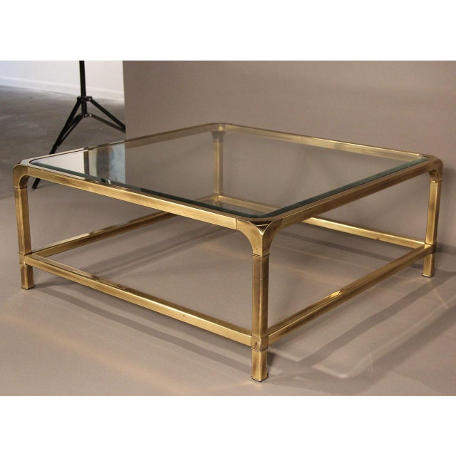 Mastercraft Brass and Glass Coffee Table - Image 10 of 10
