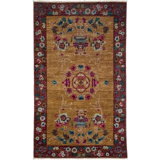 """New Traditional Hand Knotted Area Rug - 3'1"""" x 5'2"""""""