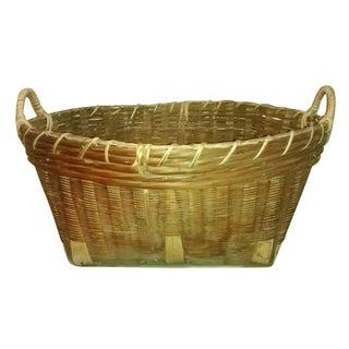 Vintage Rattan & Bamboo Basket