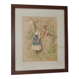 19th C. Antique Romance Print