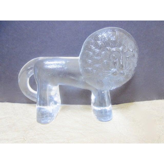 Image of Kosta Boda Vintage Modernist Glass Lion