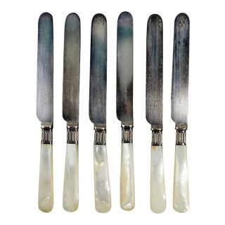 Silver Plate & Mother of Pearl Knives - Set of 6