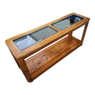 Oak Console Table With Glass Top