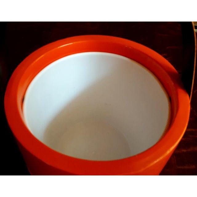 Vintage Orange Vinyl Ice Bucket - Image 4 of 4