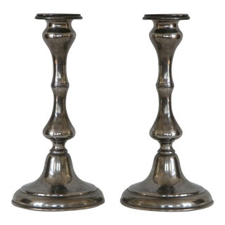 Antique Sheffield Candlesticks - A Pair