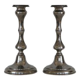 Antique Sheffield Candlesticks - A Pair
