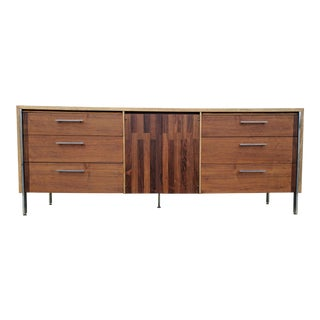 Paul McCobb for Lane Chrome and Walnut Credenza