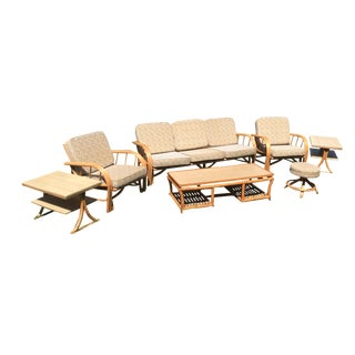 Vintage Rattan Patio Set - 10 Pieces