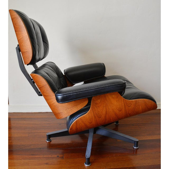 Vintage Herman Miller Rosewood Eames Lounge Chair & Ottoman - Image 4 of 11