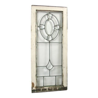 Vintage Beveled Leaded Glass Window