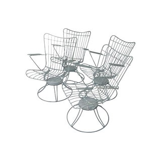 Mid-Century Swivel Patio Chairs - Set of 4