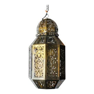 Oversized Moroccan Style Hanging Lantern
