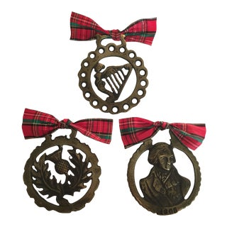 Vintage Horse Brass Ornaments - Set of 3