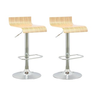 Contemporary Adjustable Bar Stool - A Pair