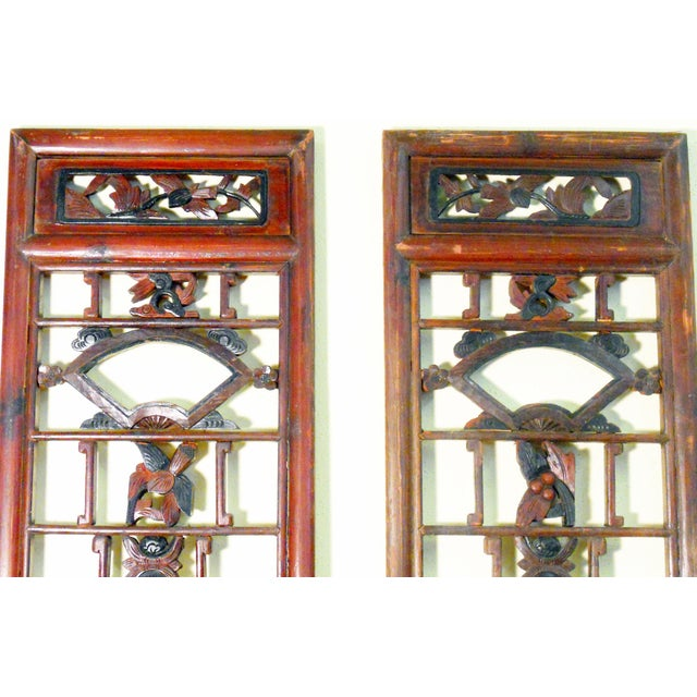 Antique Chinese Screen Panels - A Pair - Image 2 of 4