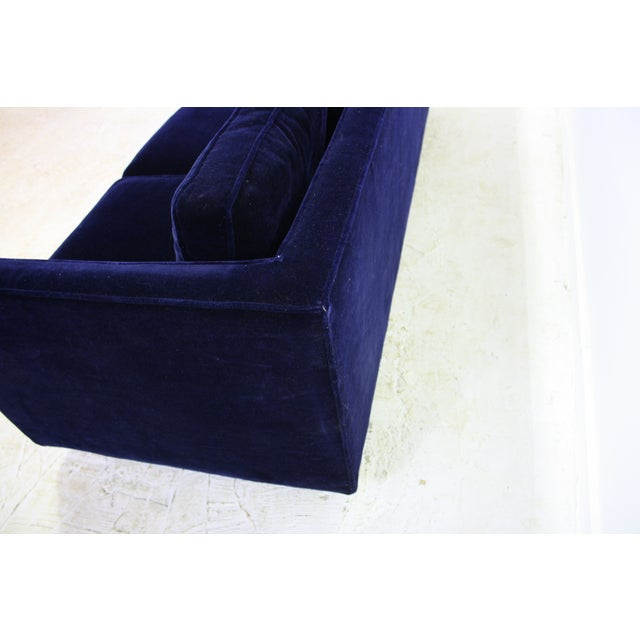Ward Bennett Sofa in Navy Blue Mohair by Brickell - Image 4 of 7