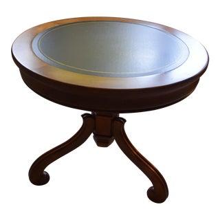 Vintage Round Walnut Table