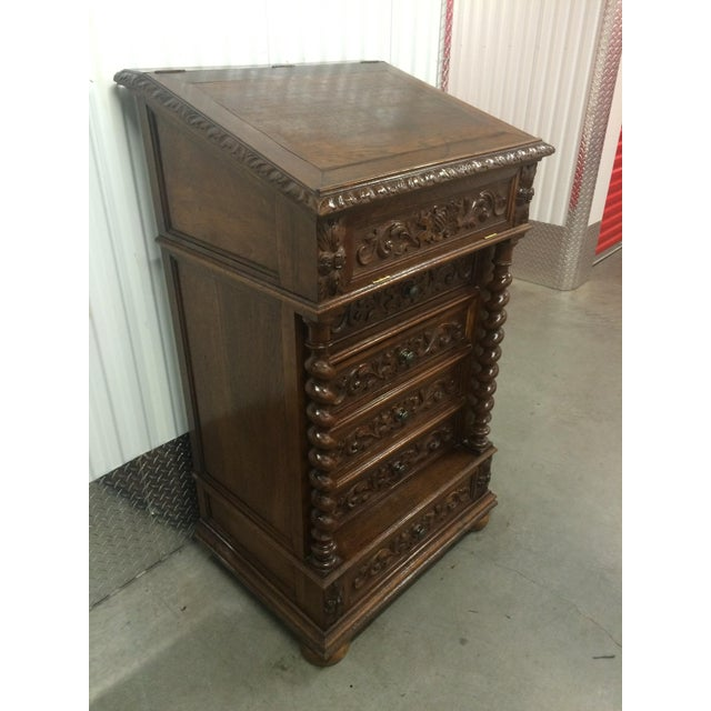 Hand-Carved Barley Twist Spindle Cabinet - Image 5 of 9