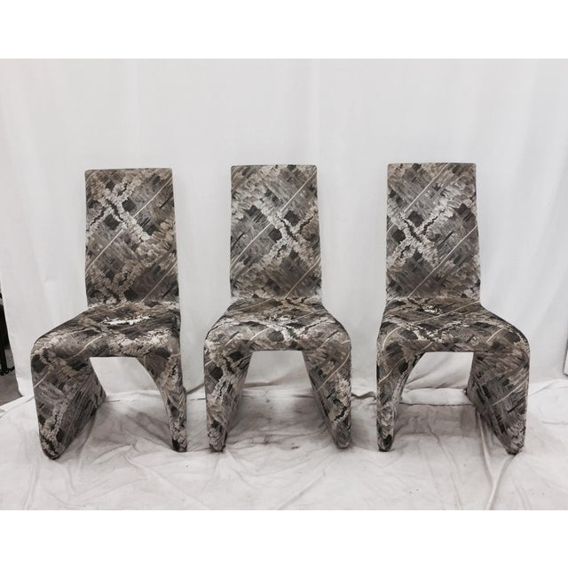 Futuristic Gray Swan Chairs - Set of 3 - Image 2 of 9