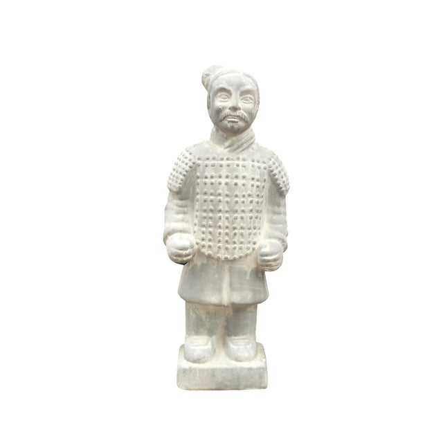 Vintage Large Chinoiserie Warrior Statue - Image 1 of 4