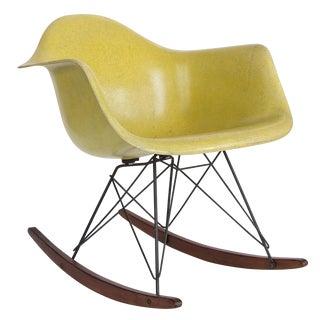 Yellow Herman Miller Eames RAR Rocker