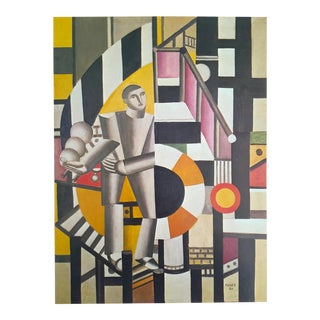 """Leger Original Vintage 1976 Lithograph Print """"Man With a Pipe"""" 1918"""