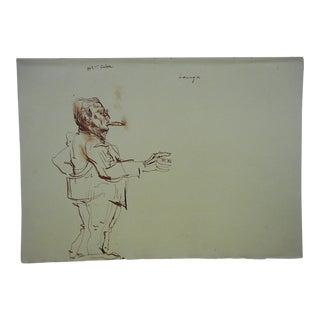 David Fredenthal Original Vintage Drawing