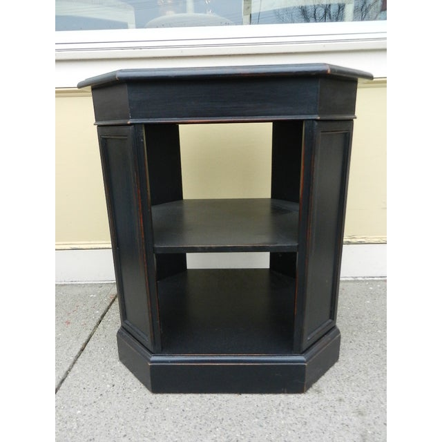Image of Leather Top End Table Bookcase