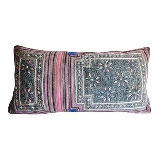 Vintage Boho Hmong Textile Pillow