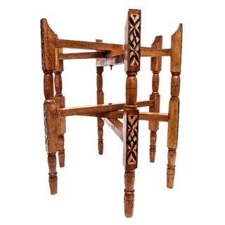 Handcrafted Moroccan Thuya Wood Tray Legs