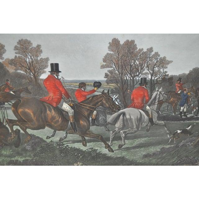 19th Century Fox Hunt Engravings - Set of 4 - Image 6 of 8