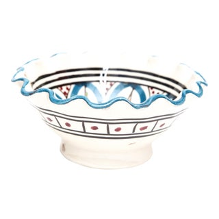 Small Moroccan Hand Painted Turquoise Bowl