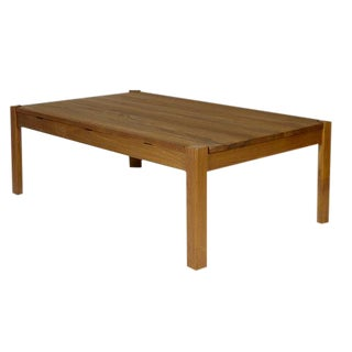 1960s Danish Solid Teak Reversible Top Coffee Table