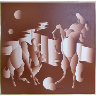 Mario Grimadi Mid-Century Modern Horse Painting