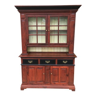 Traditional Style Stepback Pine Cupboard