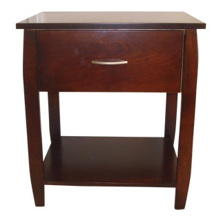 Wooden Single Drawer Tiered Nightstand