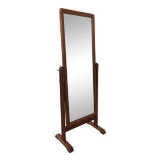 Danish Teak Cheval Mirror
