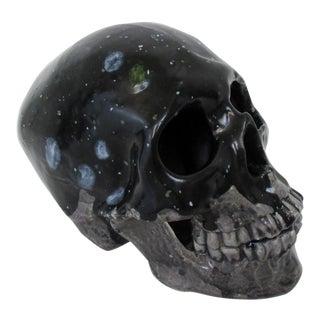 Black Handmade Ceramic Skull