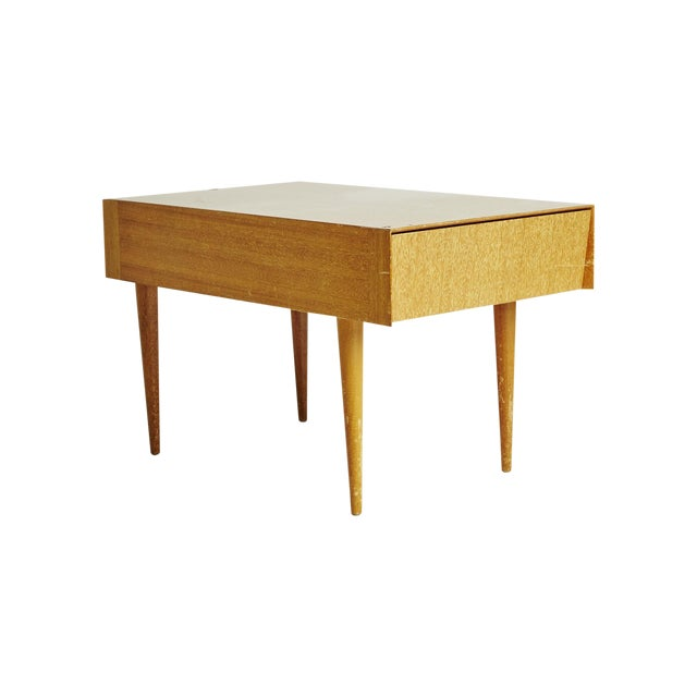 Paul laszlo brown salt light wood end table chairish for Light wood side table