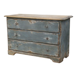 19th Century Painted Three-Drawer Commode