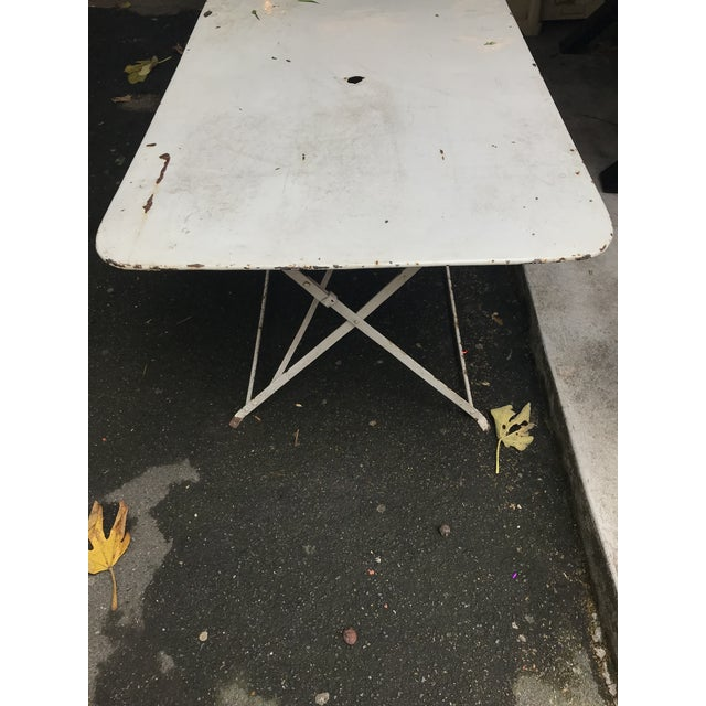 1880 Antique French Folding Garden Table - Image 4 of 5