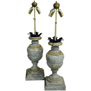 Italian Carved Lamp Bases - A Pair