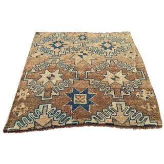 Antique Turkish Oushak Rug - 4′3″ × 4′3″