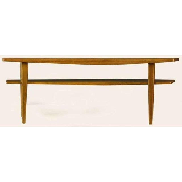 Image of M.Singer & Sons Angled Italian Walnut Coffee Table