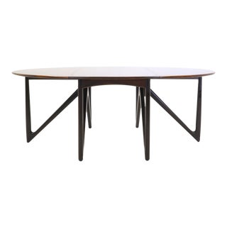 Kurt Ostervig Rosewood Gateleg / Drop-leaf Dining Table